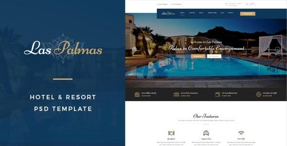 Las Palmas : Hotel & Resort PSD Template - Business Corporate