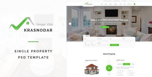 Krasnodar : Single Property PSD Template - Business Corporate
