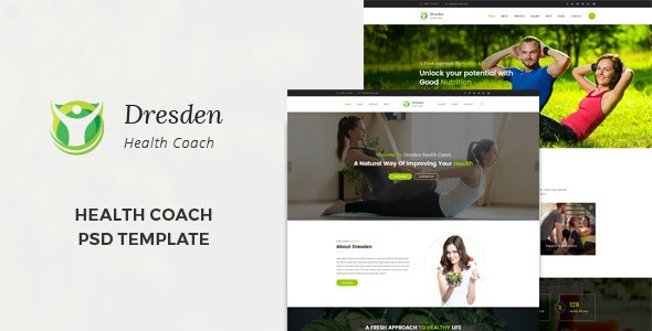 Dresden : Health Coach PSD Template - Health & Beauty Retail
