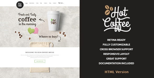 Hot Coffee | Cafe & Restaurant HTML Template - Restaurants & Cafes Entertainment
