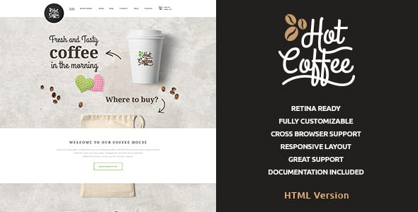 Hot Coffee | Cafe & Restaurant HTML Template