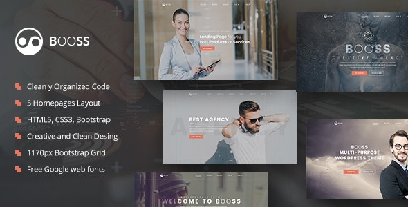 Booss | Creative Multipurpose Marketing HTML Template - Marketing Corporate