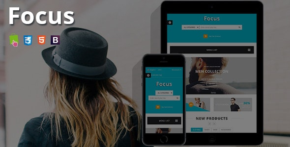 Focus - Fashion T-shirts Shop Responsive PrestaShop Theme - Fashion PrestaShop