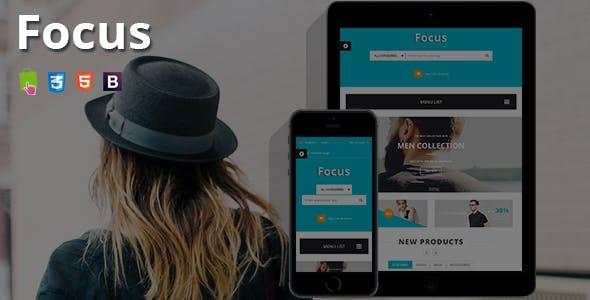 Focus - Fashion T-shirts Shop Responsive PrestaShop Theme