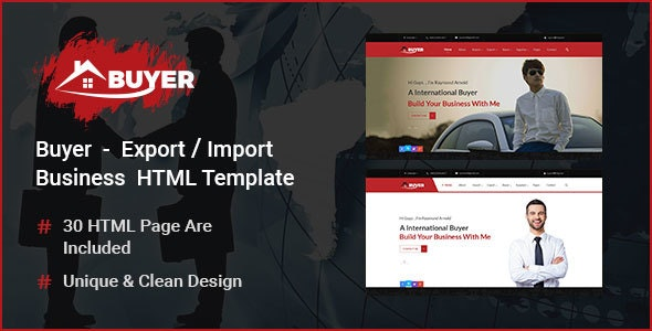 Buyer - Export/Import Business HTML Template - Corporate Site Templates