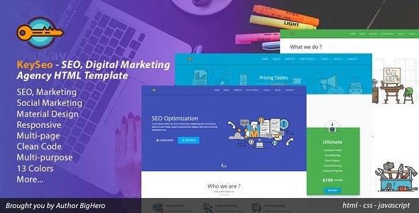 KeySeo - SEO, Digital Marketing HTML Template