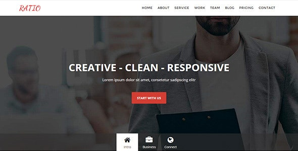Ratio Responsive Muse Template - Material Design Agency - Corporate Muse Templates