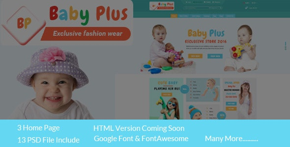 BabyPlus eCommerce HTML Template - Children Retail