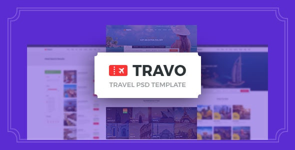 Travo - Hotel Booking & Travel PSD Template - Travel Retail