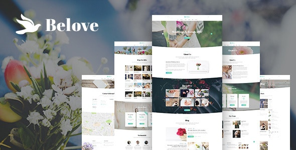 Belove - Wedding Agency PSD Template - Events Entertainment
