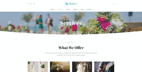 Belove - Wedding Agency PSD Template