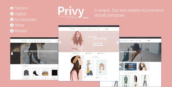 Privy Shopify - Responsive Drag & Drop - Fashion Shopify