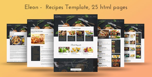 Eleon - Food Recipes HTML Template - Food Retail