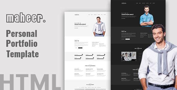 Maheer - Personal Portfolio Template - Portfolio Creative