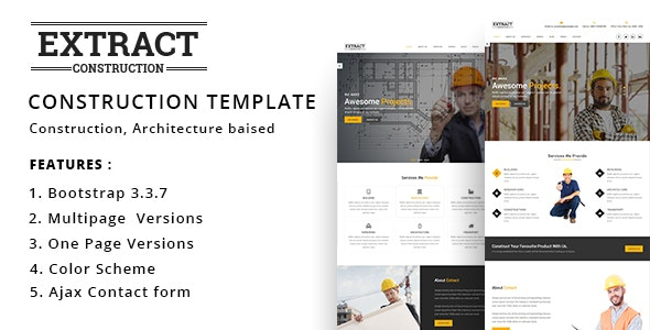 Extract - Construction and Business Template - Business Corporate