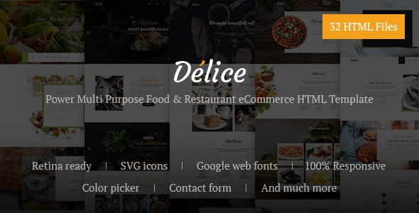 Delice - Power Multi Purpose Food & Restaurant eCommerce HTML Template - Food Retail
