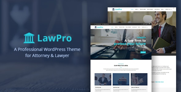 Lawpro - A Professional WordPress Theme for Attorney & Lawyer - Business Corporate