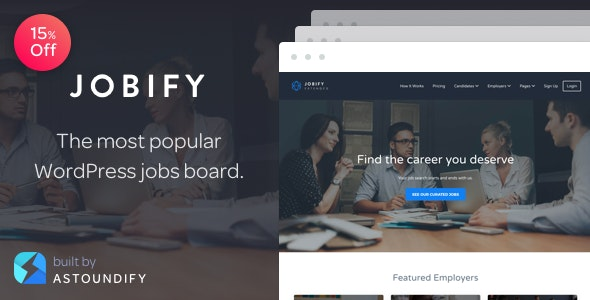 Jobify - Job Board WordPress Theme - Directory & Listings Corporate