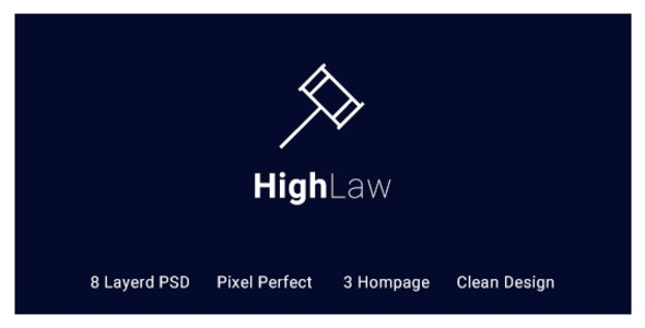 HighLaw Law Firm - Attorney PSD Templates - Business Corporate