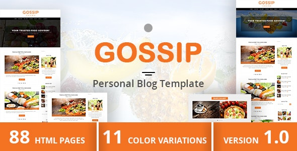 GOSSIP - Personal Blog Template - Photo Gallery Personal