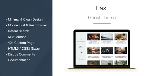 East - Blog and Multipurpose Clean Ghost CMS Theme - Ghost Themes Blogging
