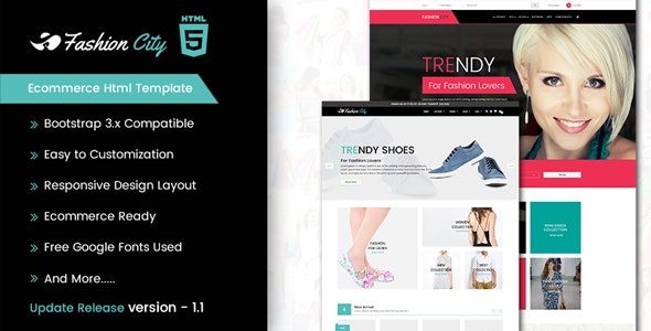 Fashion City - Ecommerce Html Template - Fashion Retail