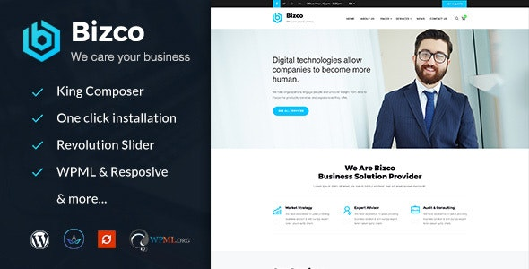 Bizco : Business Consulting and Professional Services WordPress Theme - Business Corporate