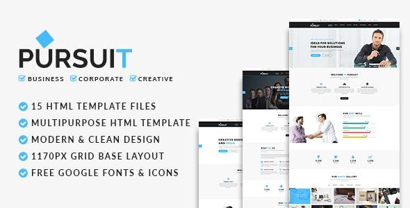 Pursuit - Business, Corporate, Creative HTML Template - Corporate Site Templates