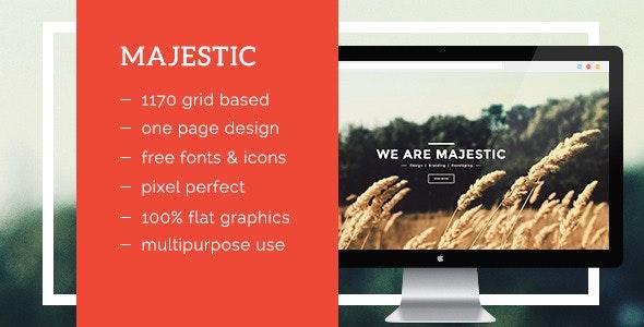 Majestic - Creative Landing Page Template - Creative Site Templates