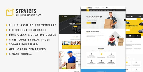 Services - Multipurpose PSD Template - Business Corporate