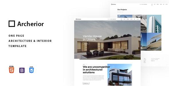 Archerior - Architecture and Interior Template - Site Templates