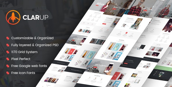 ClarUp | Creative Business HTML Template - Business Corporate