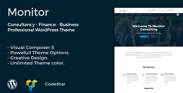Monitor | Consulting & Business WordPress Theme - Business Corporate