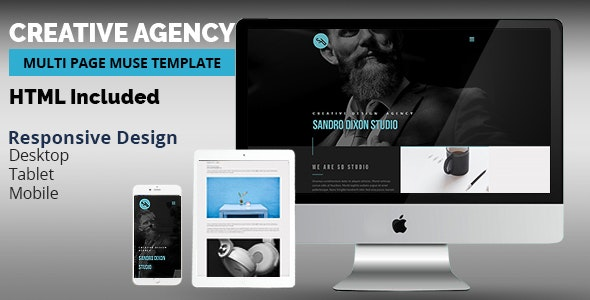 Creative Agency Adobe Muse Template - Creative Muse Templates