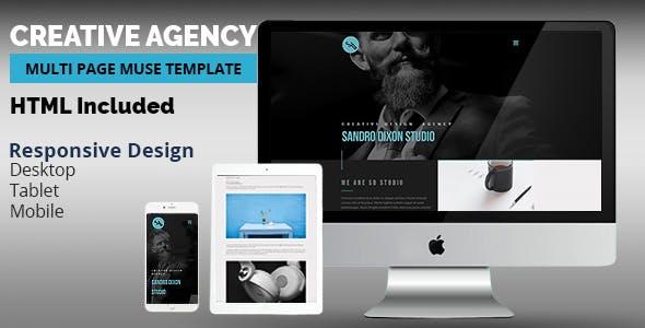Creative Agency Adobe Muse Template