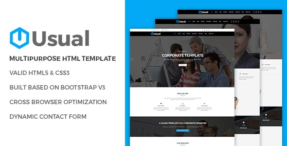 Usual - Corporate Business HTML5 Template - Business Corporate