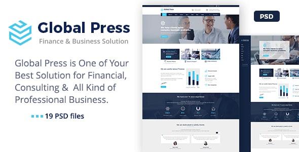 Global Press - Finance Company PSD Template - Business Corporate