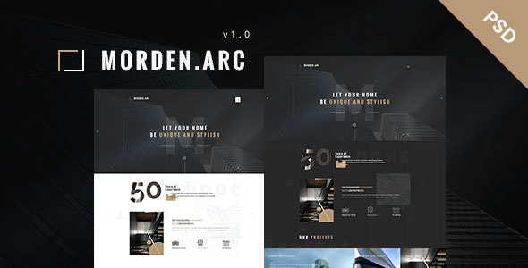 morden.arc - Architecture and Interior PSD Template - Business Corporate