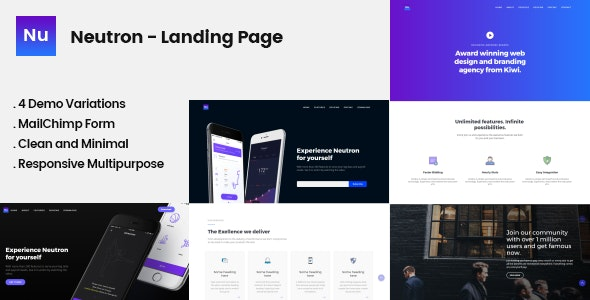 Neutron Multipurpose Landing Page Template - Landing Pages Marketing