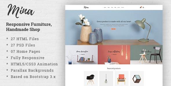 Mina - Responsive Furniture, Handmade Shop & Blog HTML5 Template