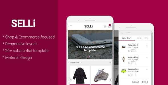 SELLi - E-Commerce/Shop Mobile Template - Mobile Site Templates