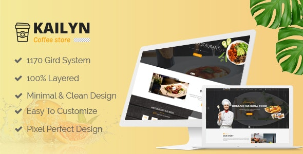 Kailyn - Multipurpose PSD Template - Food Retail