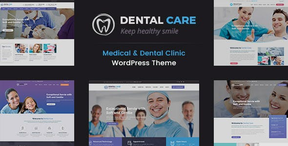 Dental Care - Teeth Clinic WordPress Theme