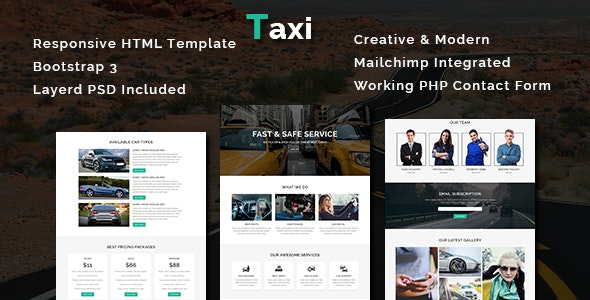 Taxi - Multipurpose Responsive HTML Template - Business Corporate
