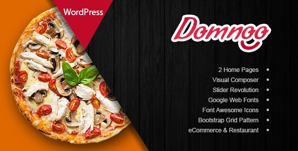 Domnoo - Pizza & Restaurant WordPress Theme - WooCommerce eCommerce