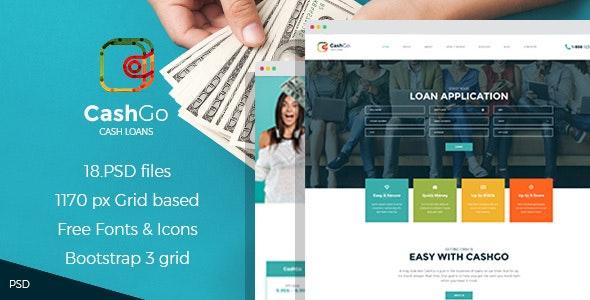 CashGo - Fast Loan Financial Company PSD Template - Business Corporate