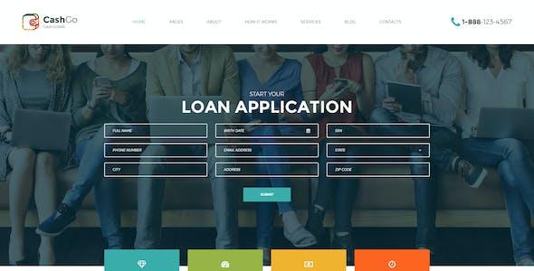 CashGo - Fast Loan Financial Company PSD Template