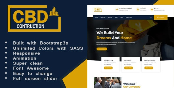 Construct - Construction & Business HTML5 Template - Business Corporate