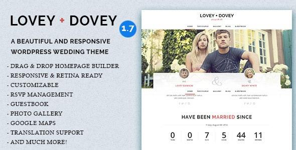 Lovey Dovey - Responsive WordPress Wedding Theme - Wedding WordPress