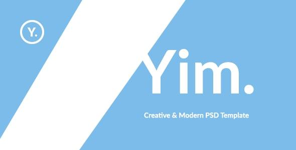 Yim. - Creative and Modern PSD Template - Creative Photoshop